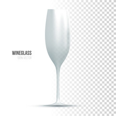 Template of wineglass on transparent background.