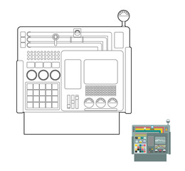 control system. System Center Panel for  production. Industrial