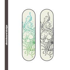 Skateboard Design Abstract Mushroom Four