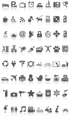 Hotel Icons Collection Black on White