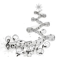 Christmas musical design
