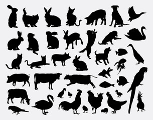 Pet animal silhouettes