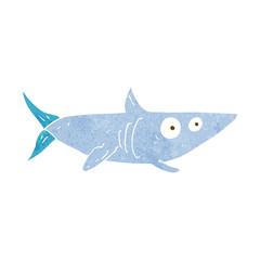 cartoon happy shark