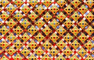 Art glass surface pattern
