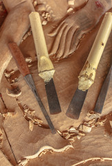 Tools of the wood carver