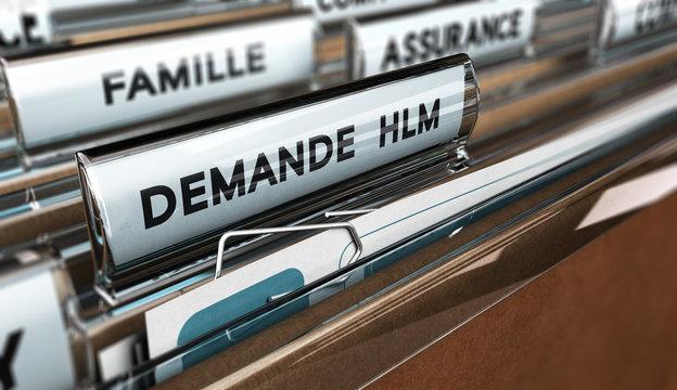Dossier de demande de logement HLM