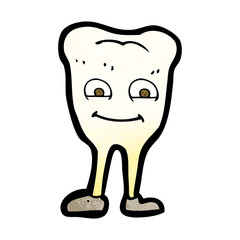 cartoon yellowing  tooth