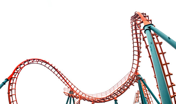Roller coaster, isolated
