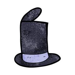 cartoon old top hat
