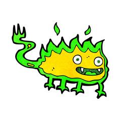 cartoon little fire demon