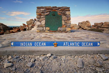 Atlantic and Indian ocean, Cape Agulhas, South Africa
