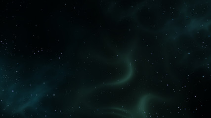 Starry sky with dust clouds. Digital background raster illustration.