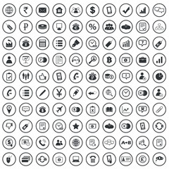 Business sign icons set