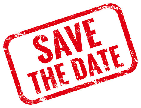 Save the date Stempel rot