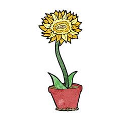 cartoon flower in pot