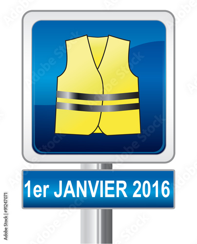 gilet jaune obligatoire panneau de signalisation fichier vectoriel libre de droits sur la. Black Bedroom Furniture Sets. Home Design Ideas