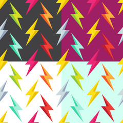 seamless pattern with lightning
