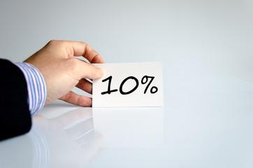 10% text concept