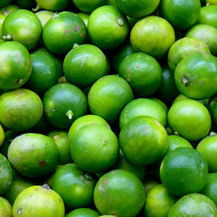 Group of limes in the market