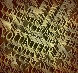 volunteer work Word cloud background