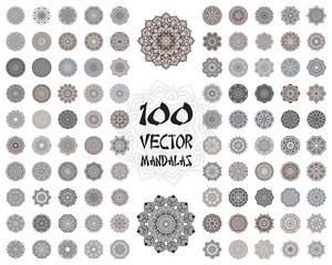 Vector mandala ornaments set