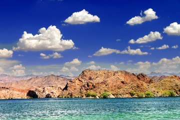 Wall Mural - Lake Mohave is a reservoir on the Colorado River in the desert of the southwestern United States