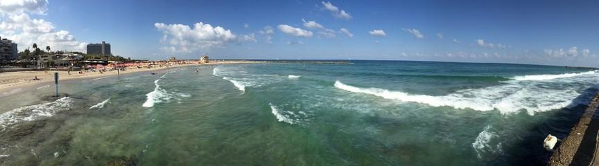 Tel Aviv, lungomare, Mar Mediterraneo, Israele