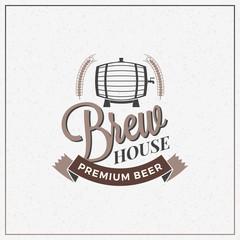 Retro Vintage Beer Logotype Design Element. Vector Illustration