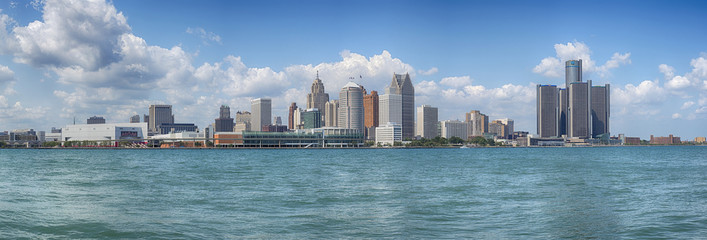 Detroit skyline panorama
