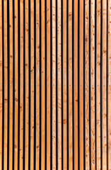Vintage stained wooden fence