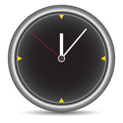 Round clock on white
