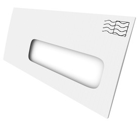 White Mailing Envelope Blank Opening Window Your Copy Message