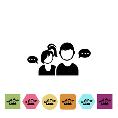 Dialog of two people icon