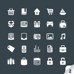 Set of Office and Media Icons
