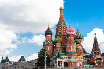 View to Cathedral of Vasily the Blessed (Saint Basil's Cathedral). Moscow. Russia