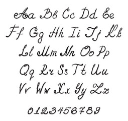 alphabet handwriting fonts