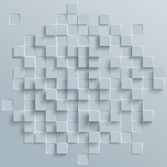 Vector Abstract geometric shape from gray cubes or squares