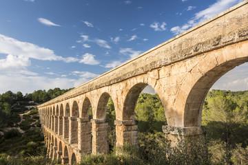 Roman Aqueduct Pont del Diable in Tarragona