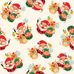 Christmas Seamless with Santa Claus