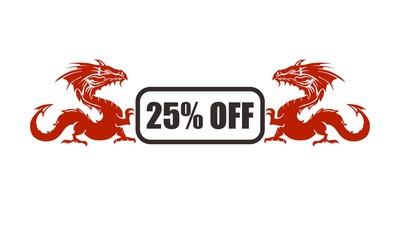 25% off super market icon