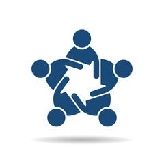 People logo. Online marketing meeting