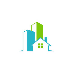house building modern architecture vector logo