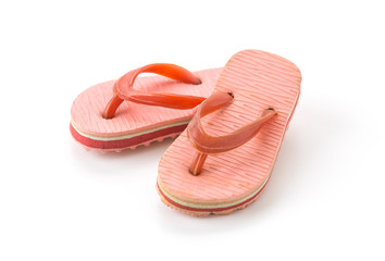 mini sandal on white background