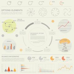Design for business data visualization, templates for presentati