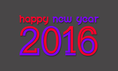 Happy New Year 2016 gray background