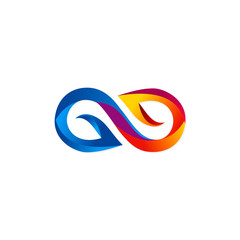 colorful infinity abstract symbol logo