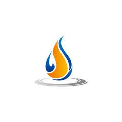 droplet gas bio energy vector logo