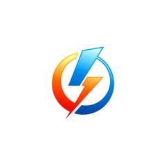 energy lighting bolt power electric logo