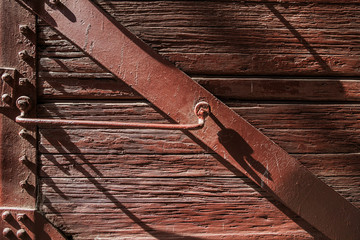 Wooden texture planks wall for old vintage background. Old