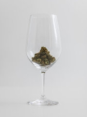 Cannabis in Wineglass